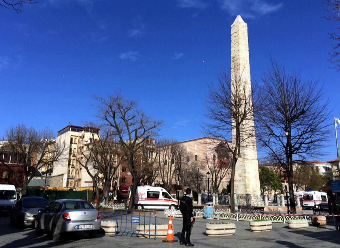 Náměstí Sultanahmet s egyptským obeliskem