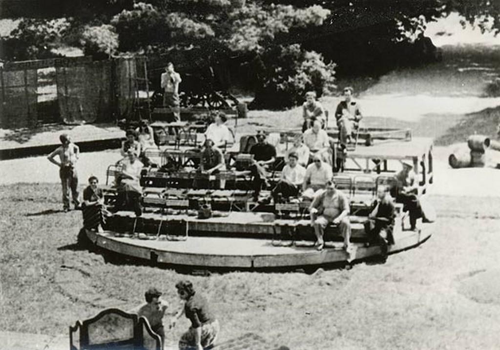 První improvizovaná točna v Českém Krumlově (1958)