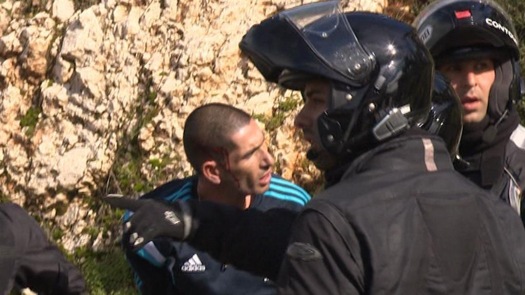 Zadržený palestinský řidič