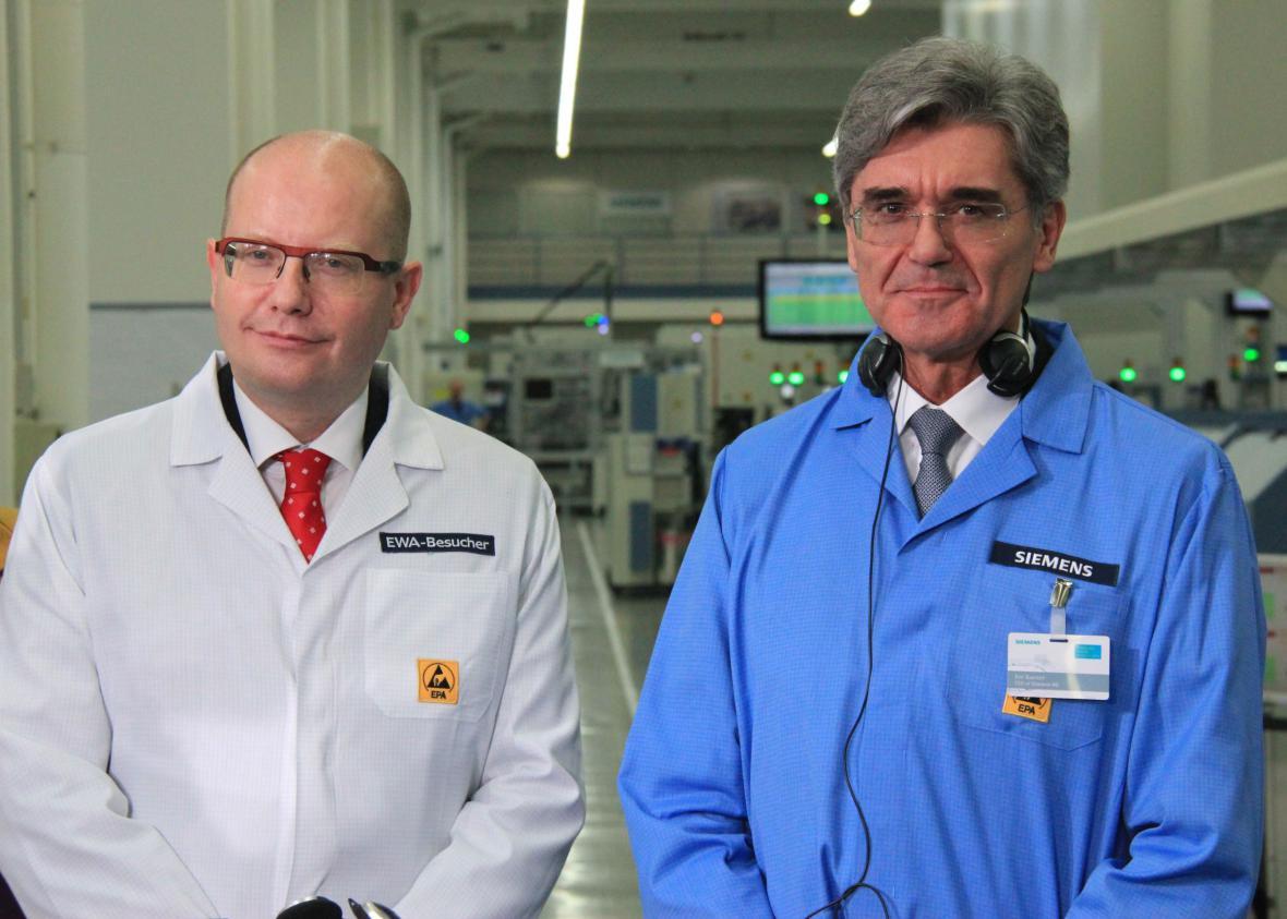 Bohuslav Sobotka a šéf Siemensu Joe Kaeser