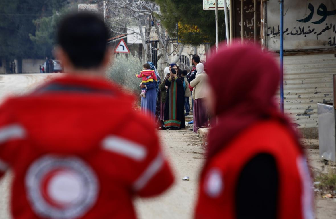 Humanitární pracovníci v Madáji