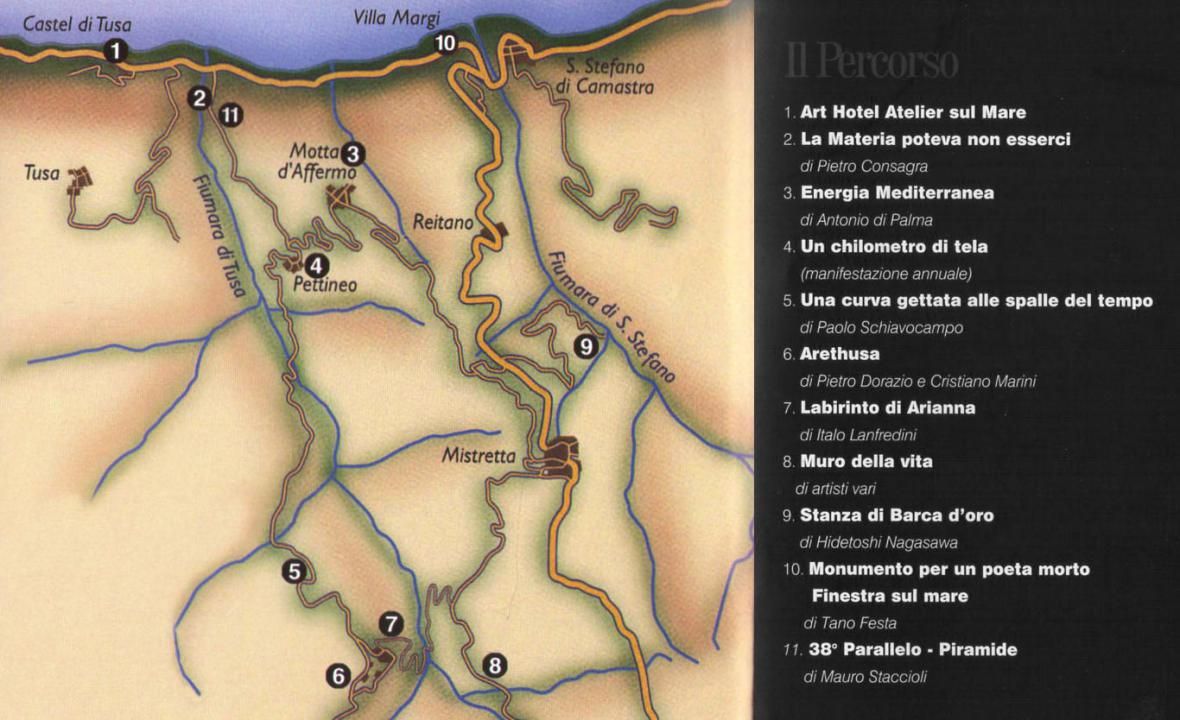 Fiumara d'Arte - mapa
