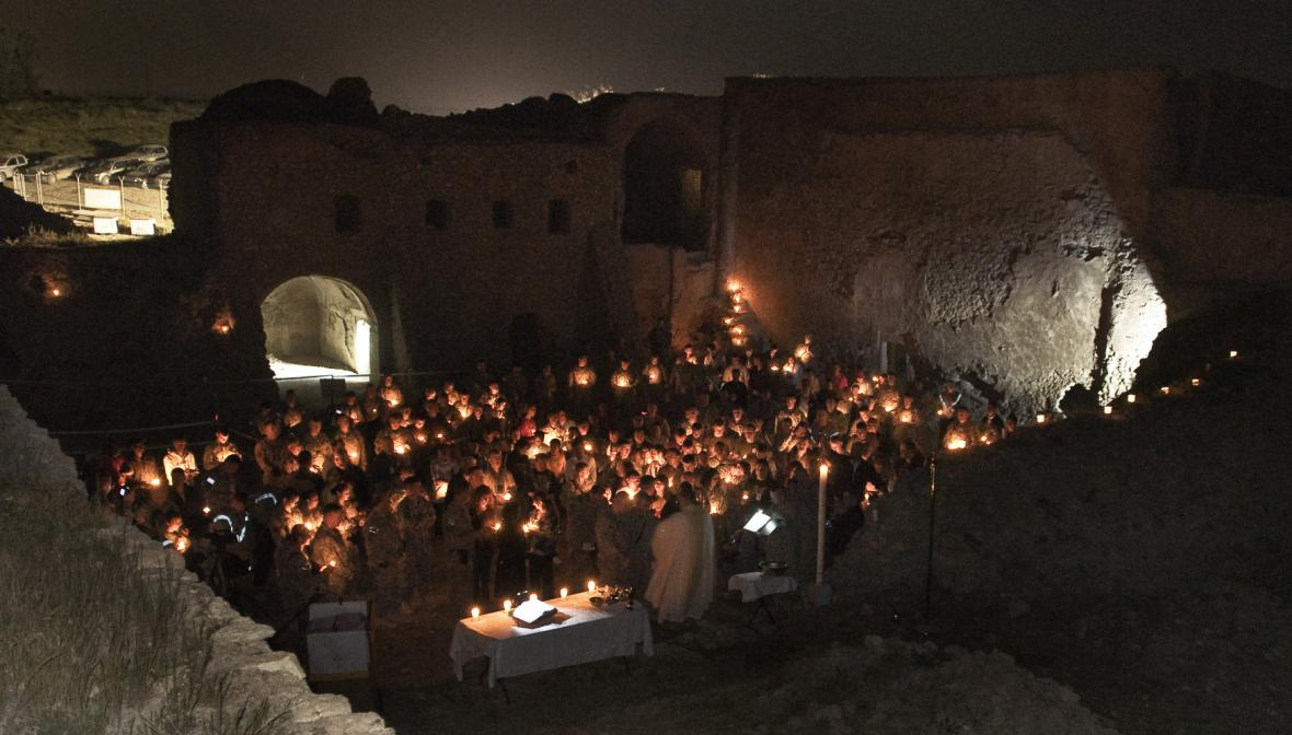 Irácký klášter svatého Eliáše před zničením