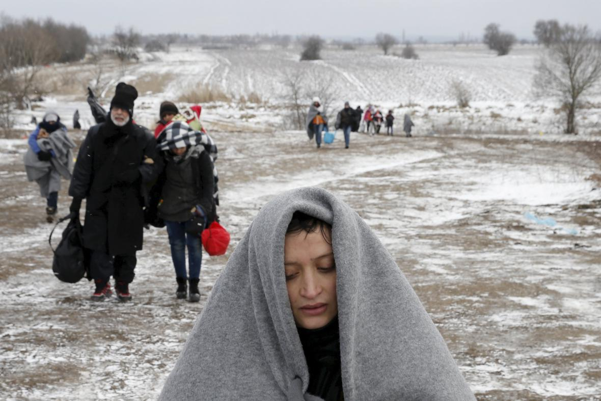 Migranti na srbsko-makedonské hranici