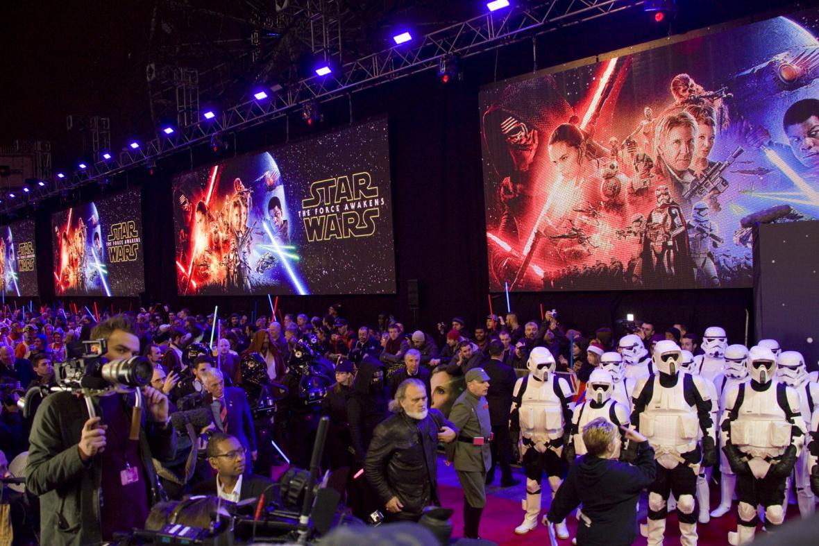 Premiéra filmu Star Wars: Síla se probouzí v Londýně