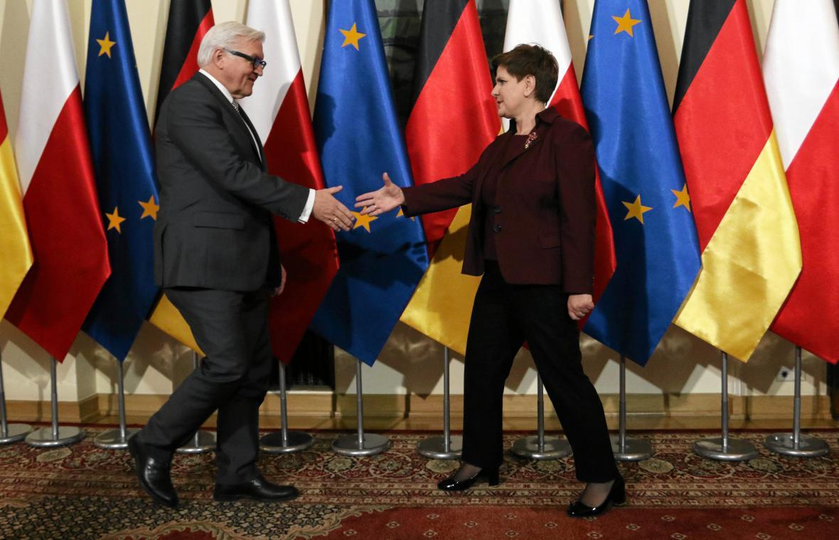 Frank-Walter Steinmeier a Beata Szydlová