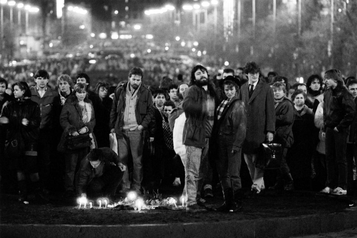 Václavské náměstí v lednu 1989: Palachův týden