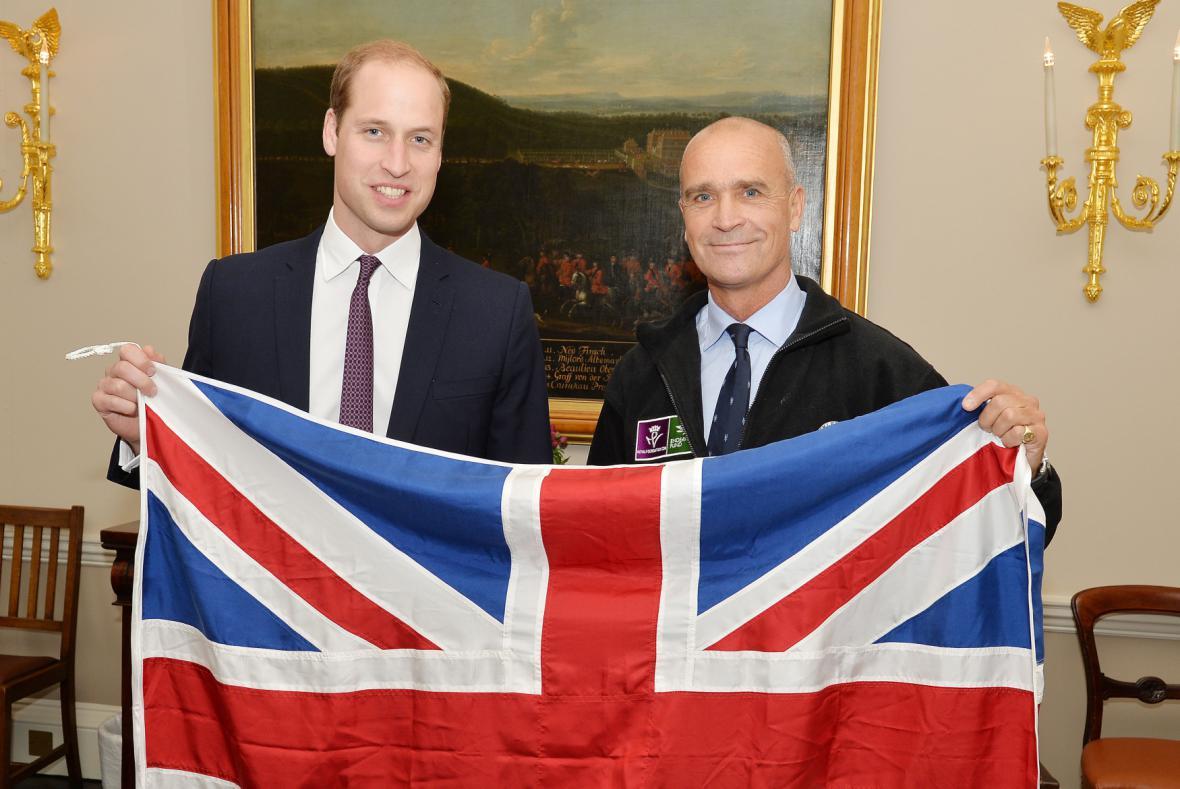Princ William a polárník Henry Worsley