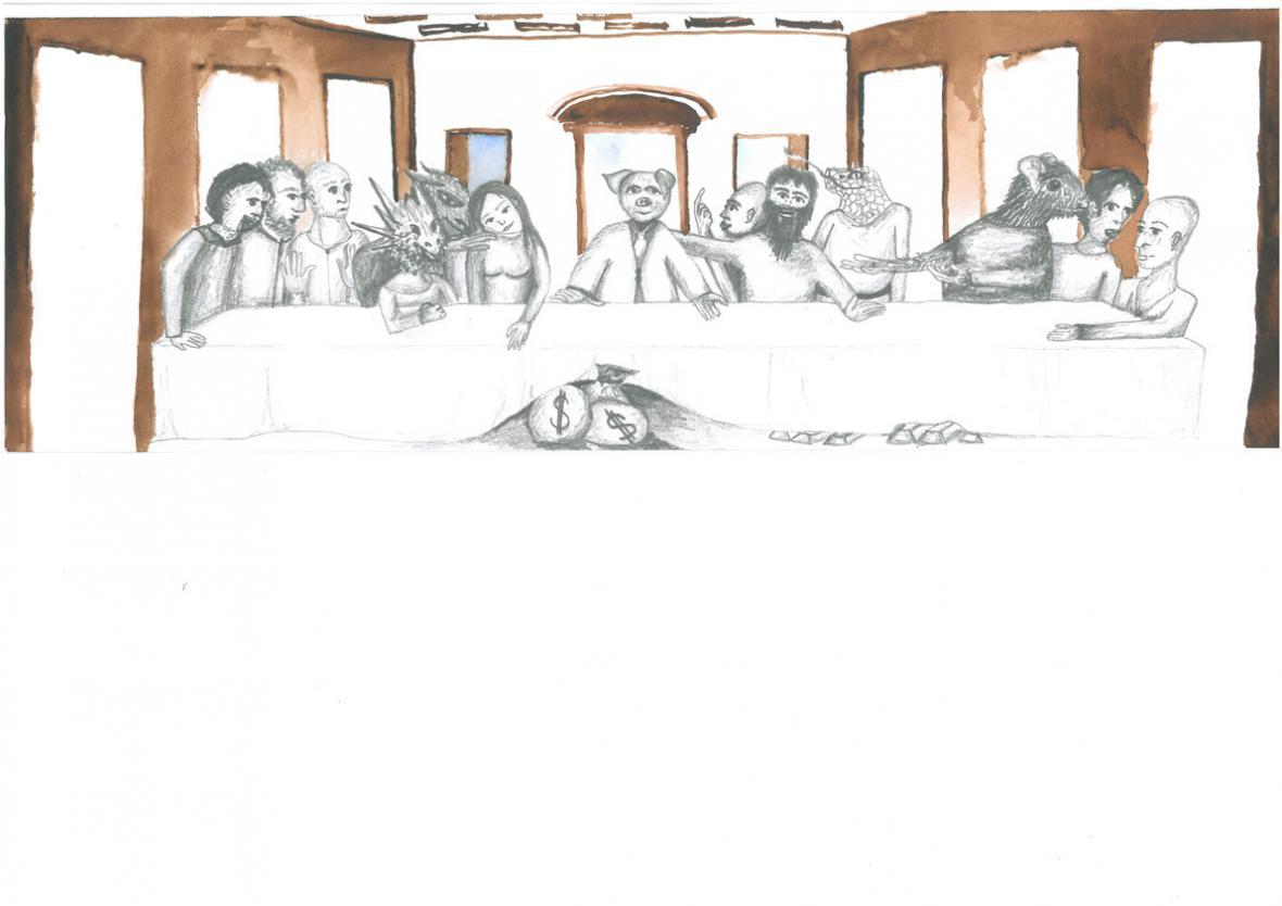 Obraz Anny Duškové, který vybrali zaměstnanci úřadu