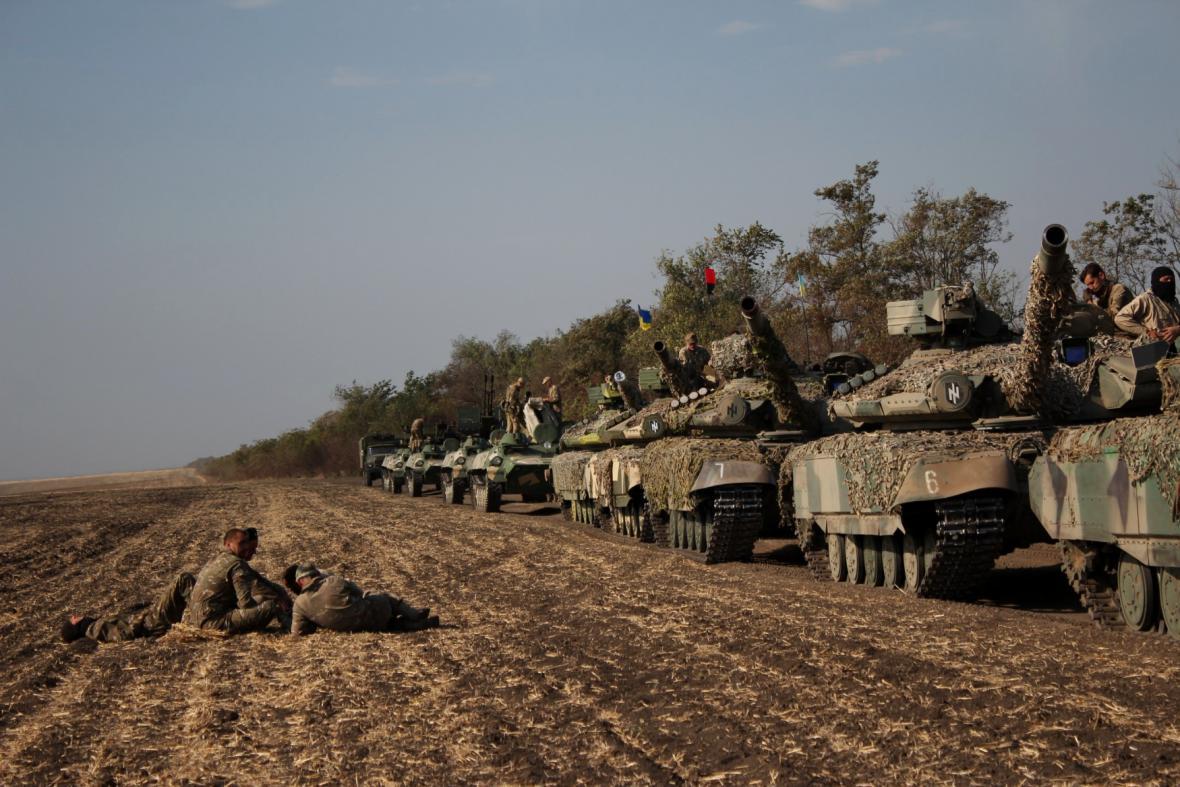 Těžká technika na východě Ukrajiny