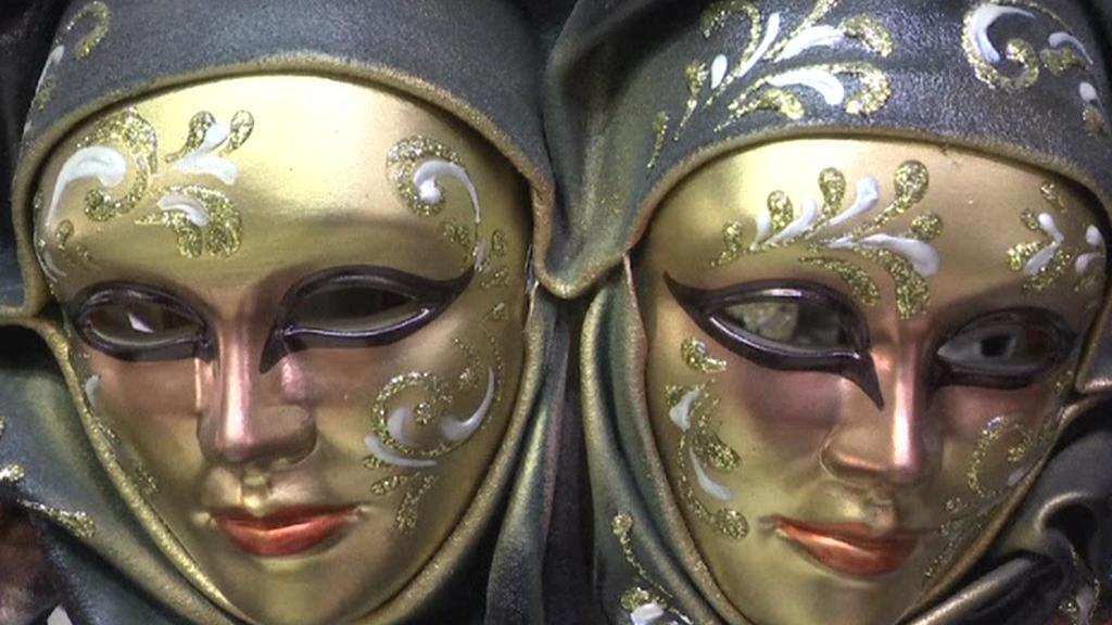 Masky připravené pro karneval