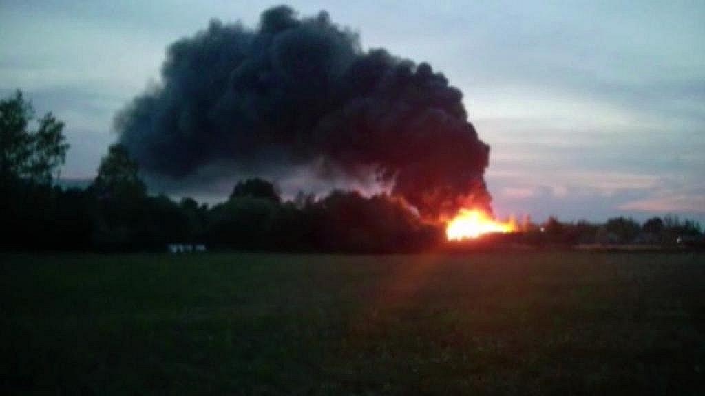 Požár skládky v srpnu 2015