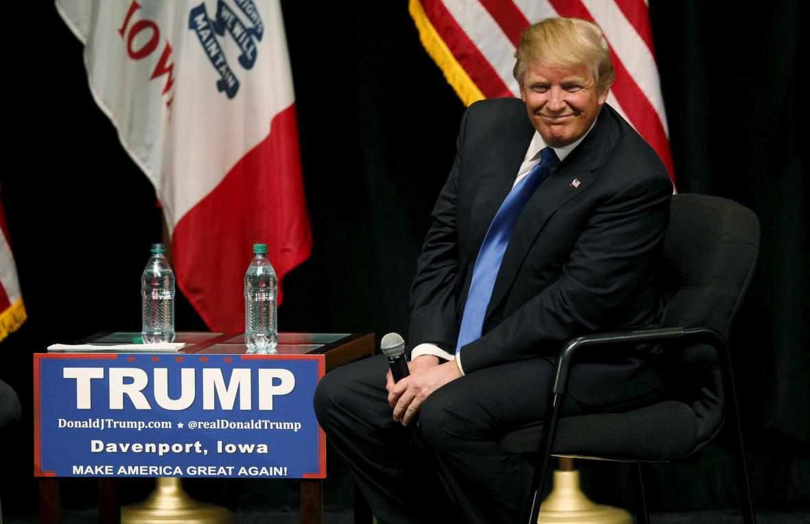 Miliardář a republikánský kandidát Donald Trump