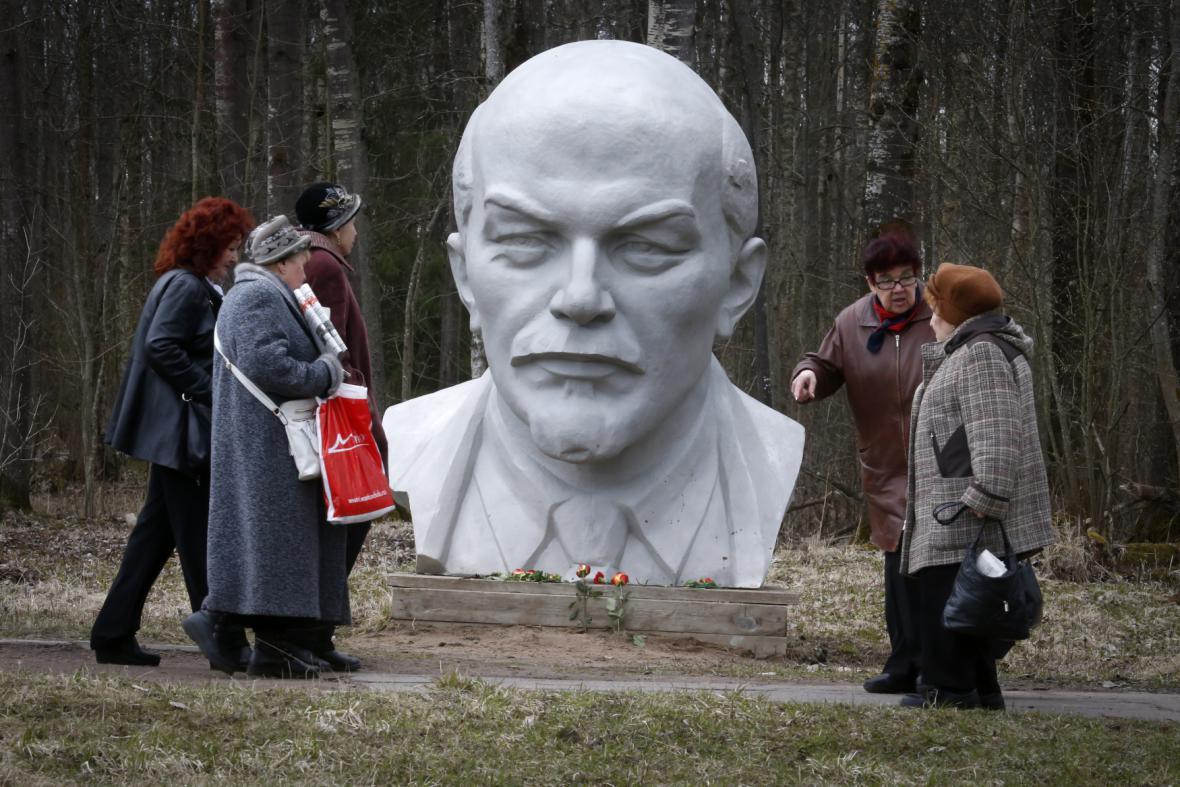 Jedna ze soch Lenina v Rusku