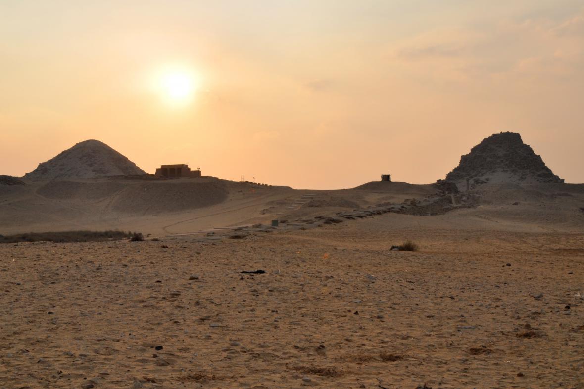 Archeologické naleziště v egyptském Abúsíru