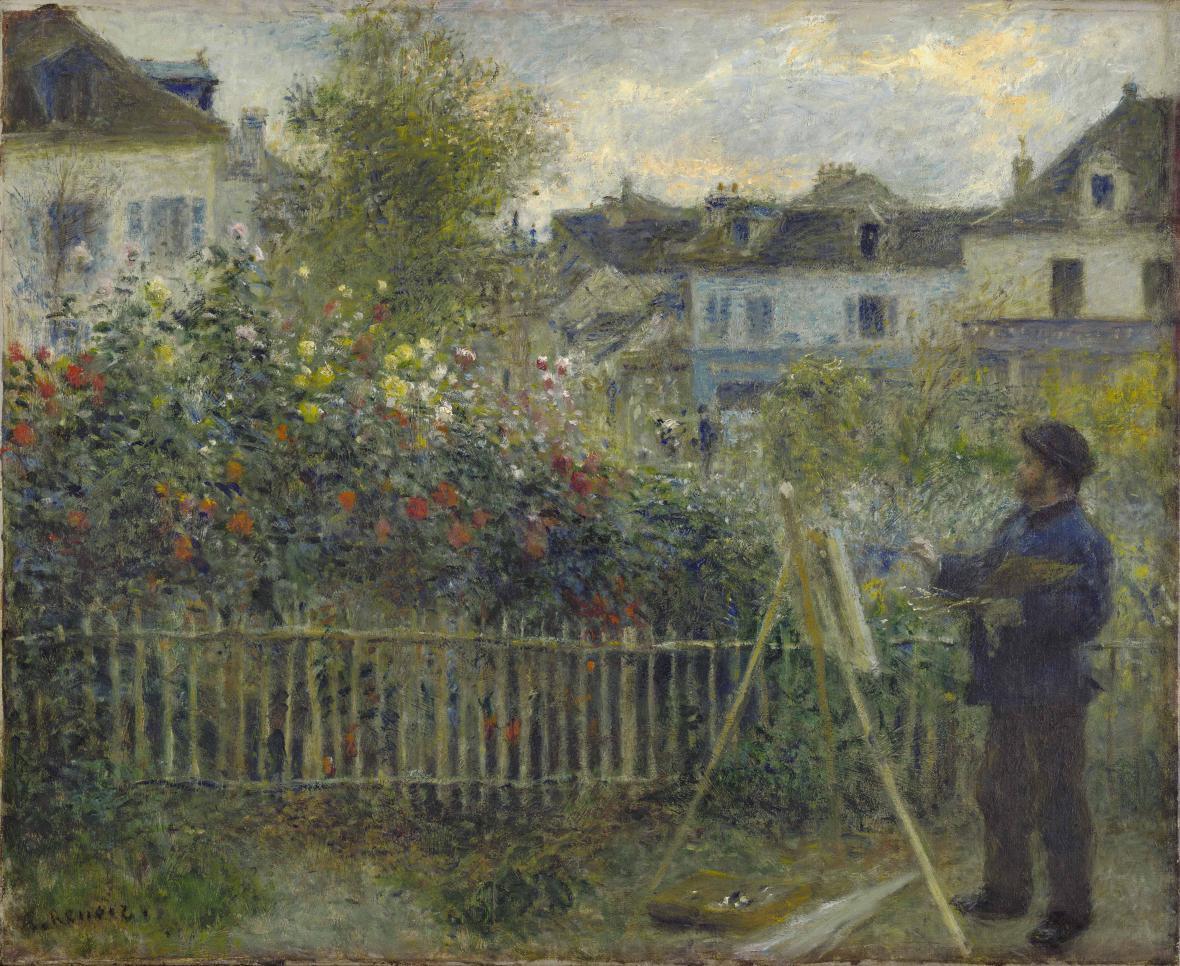 Auguste Renoir / Monet ve své zahradě v Argenteuilu, 1873