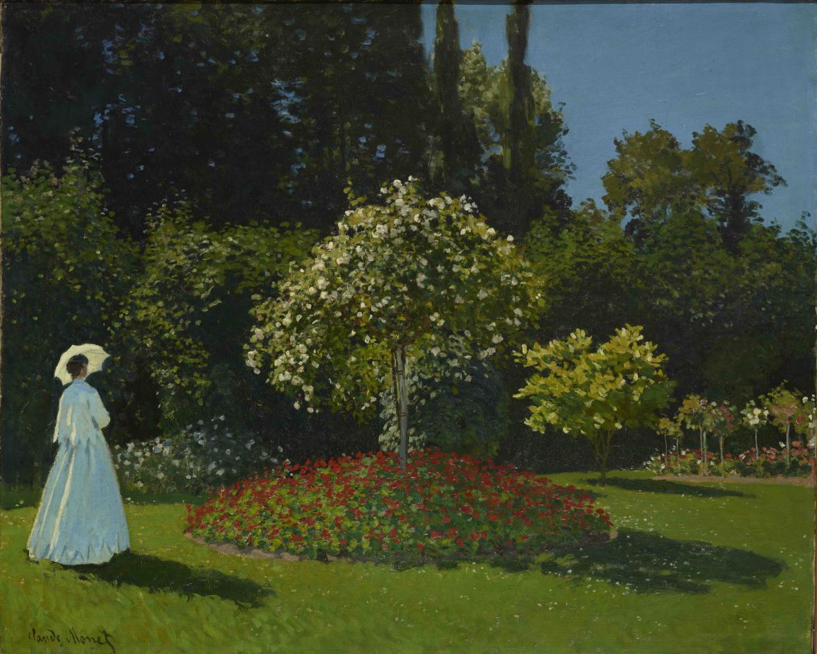 Claude Monet / Žena v zahradě, 1867