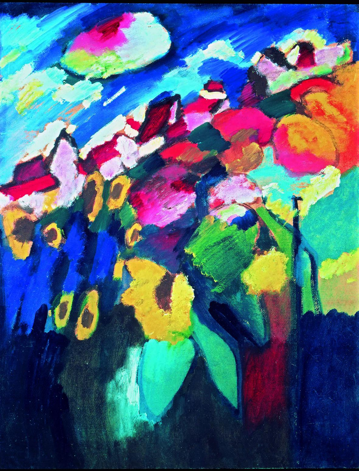 Vasilij Kandinskij / Zahrada v Murnau II, 1910