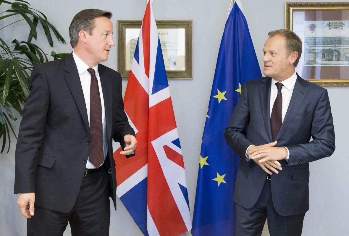 David Cameron a Donald Tusk