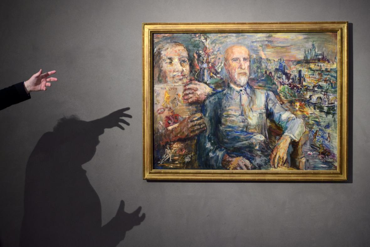 Portrét T. G. Masaryka od Oskara Kokoschky