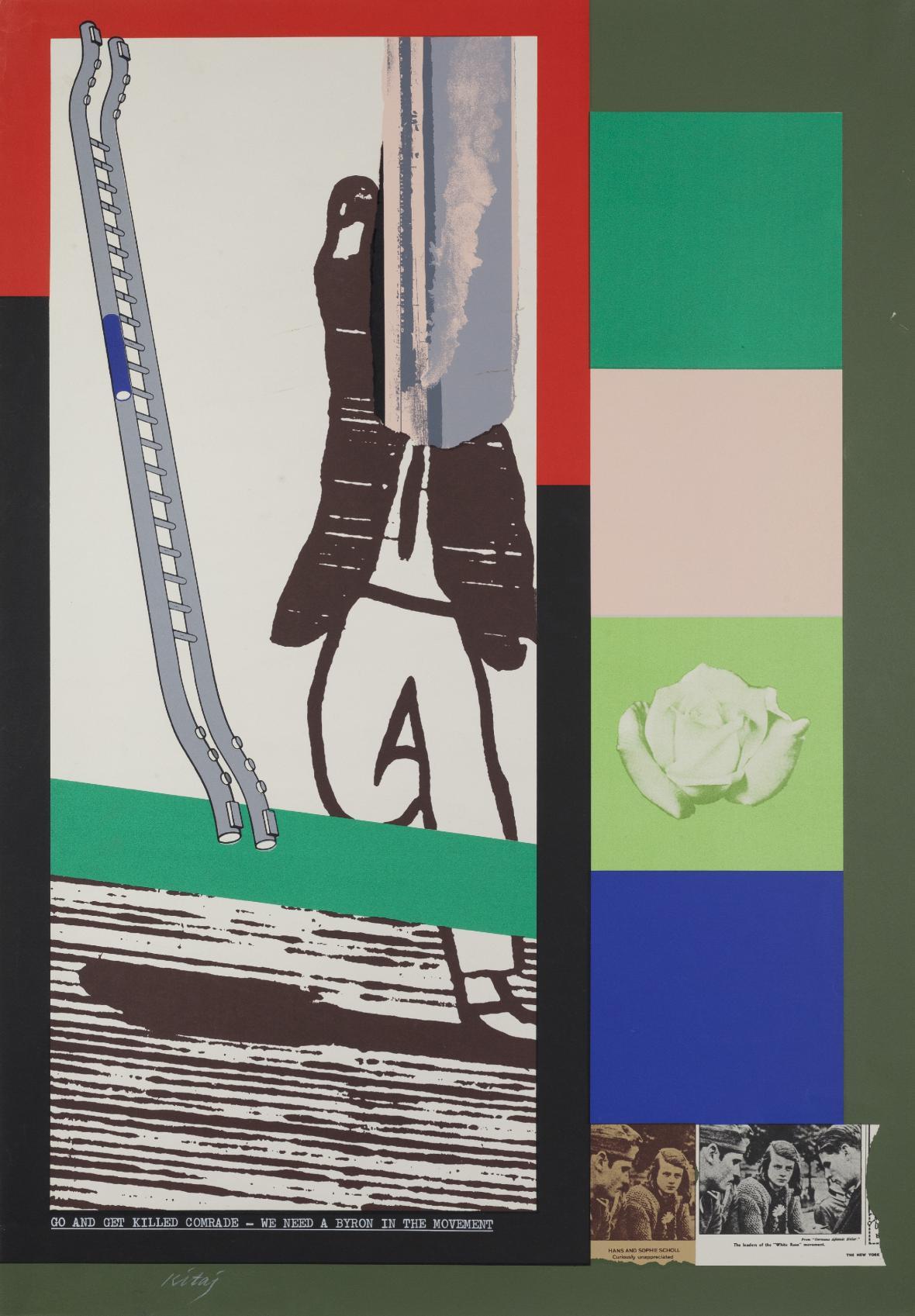 Ronald B. Kitaj / Jdi a nech se zabít, kamaráde, potřebujeme svého Byrona, 1966