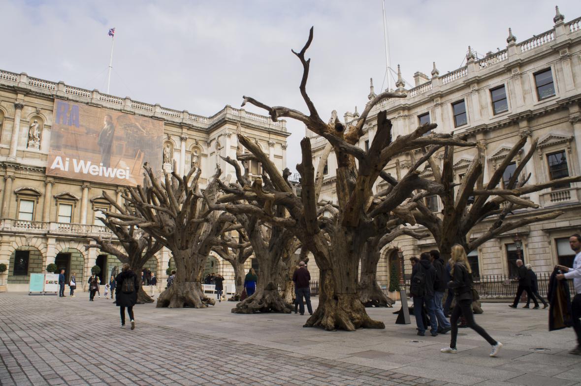 Aj Wej-Wejova výstava v londýnské Královské akademii