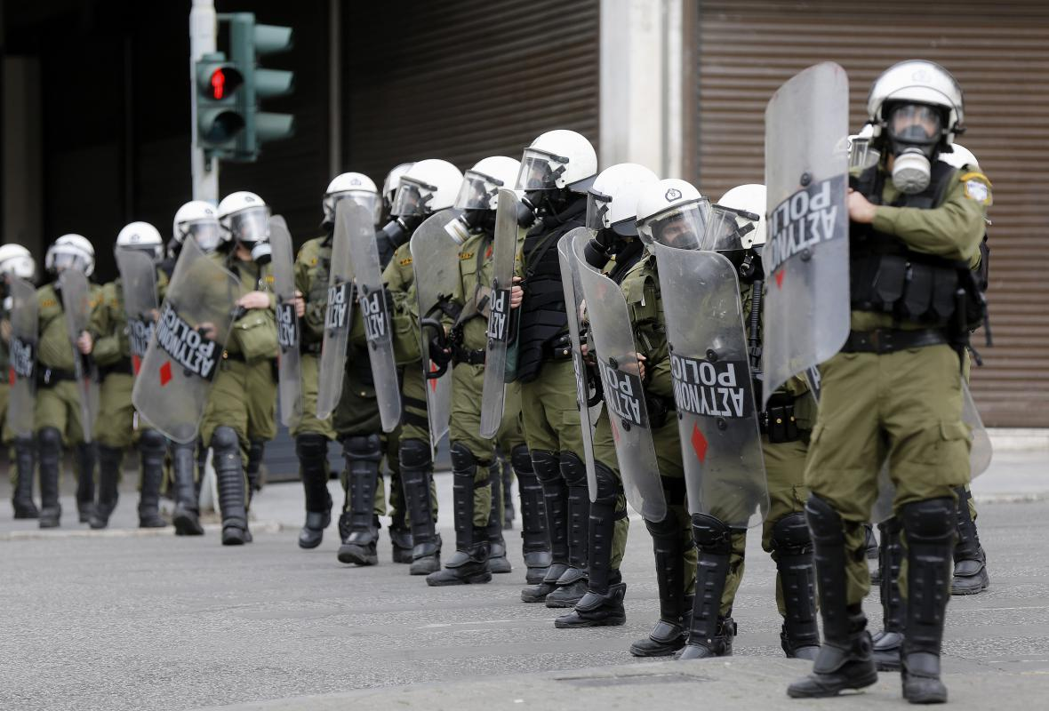Řecké demonstrace