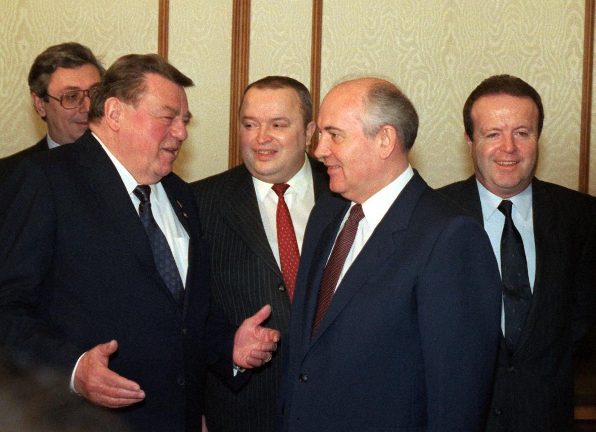 Franz Josef Strauss a Michail Gorbačov