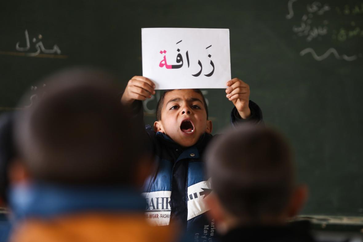 Výuka syrských dětí v Jordánsku
