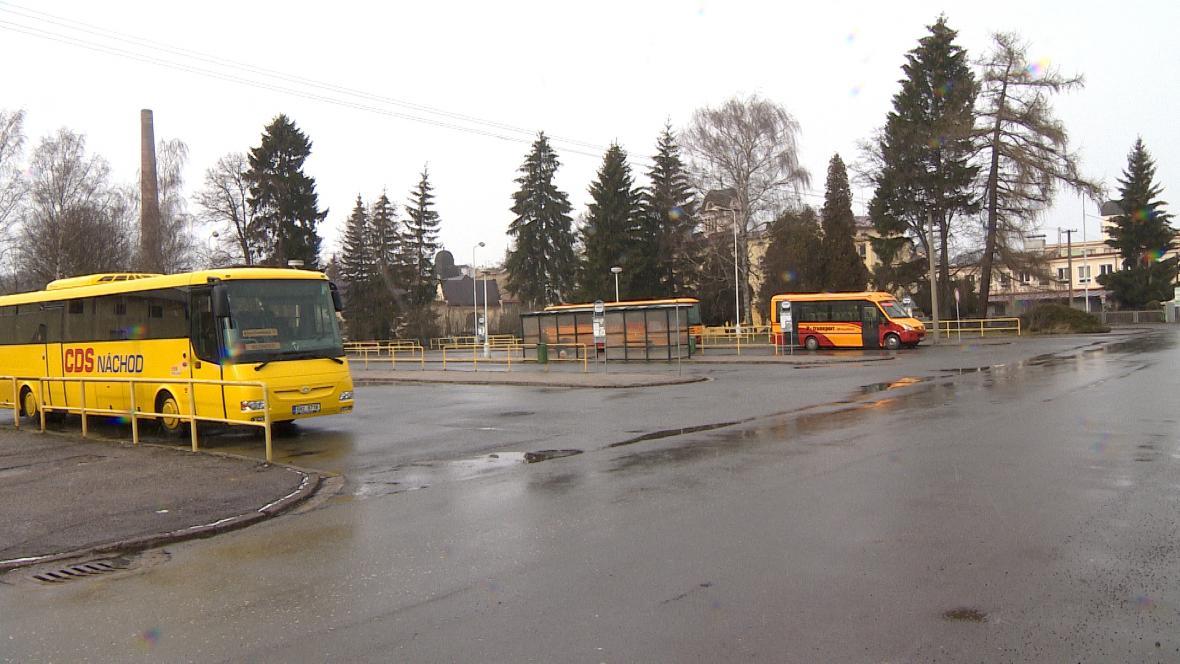 Autobusové nádraží v Broumově