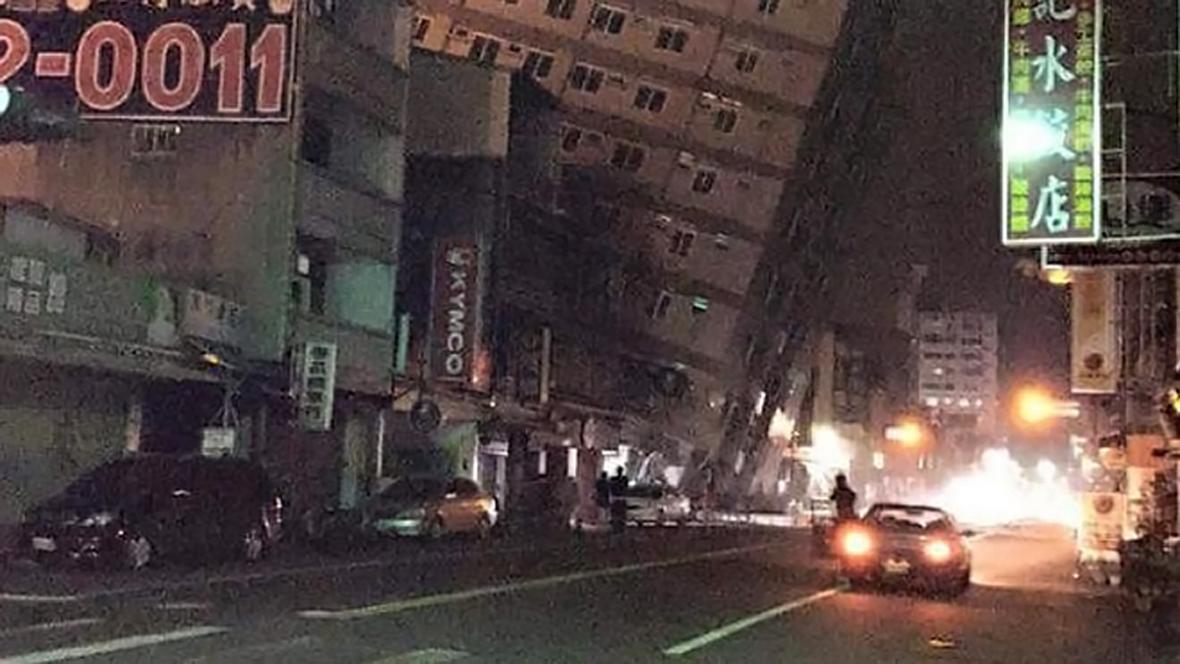 Tchaj-wan zasáhlo zemětřesní o síle 6,7 stupně Richterovy škály