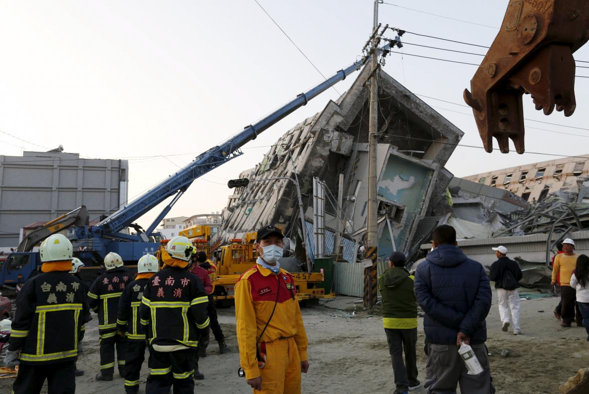 Záchranné práce po zemětřesení na Tchaj-wanu