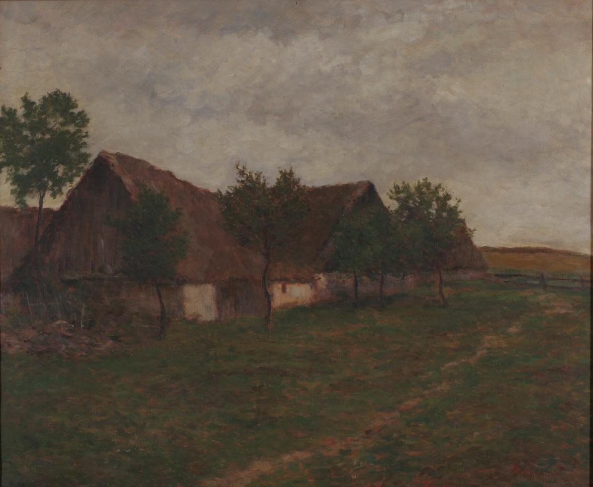 Antonín Slavíček / Stodoly, kolem 1904
