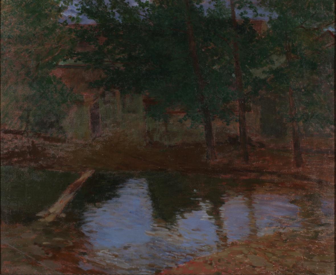 Antonín Slavíček / Večer v Okoři, kolem 1900 (výstava Mezi životem a uměním, KGVU ve Zlíně)