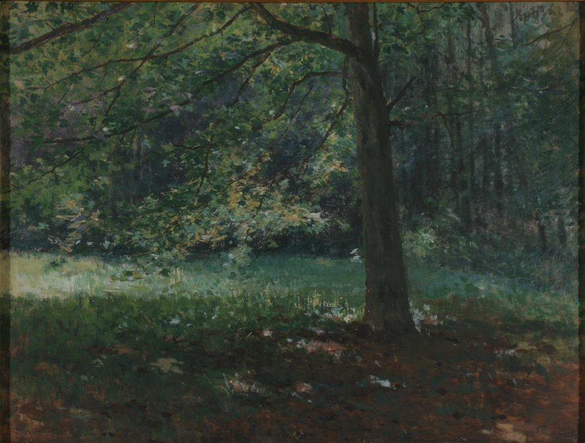 Antonín Slavíček / Z bechyňské obory, 1895