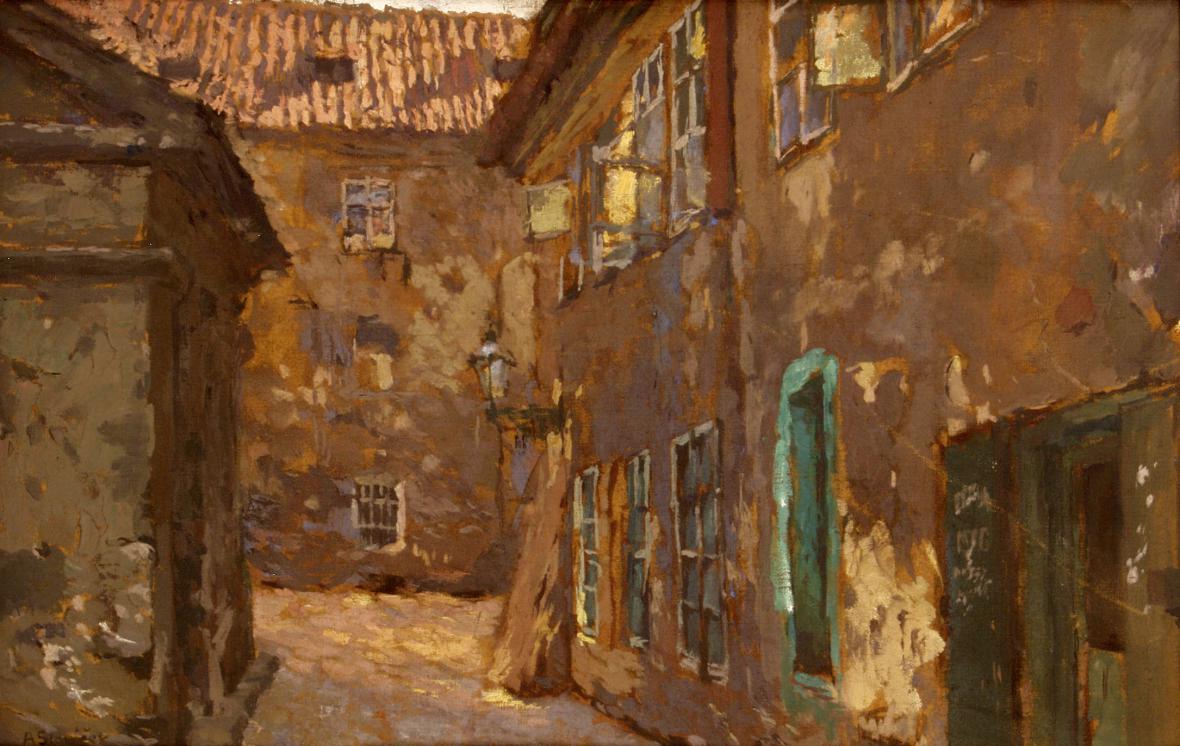 Antonín Slavíček / Ze staré Prahy, 1905