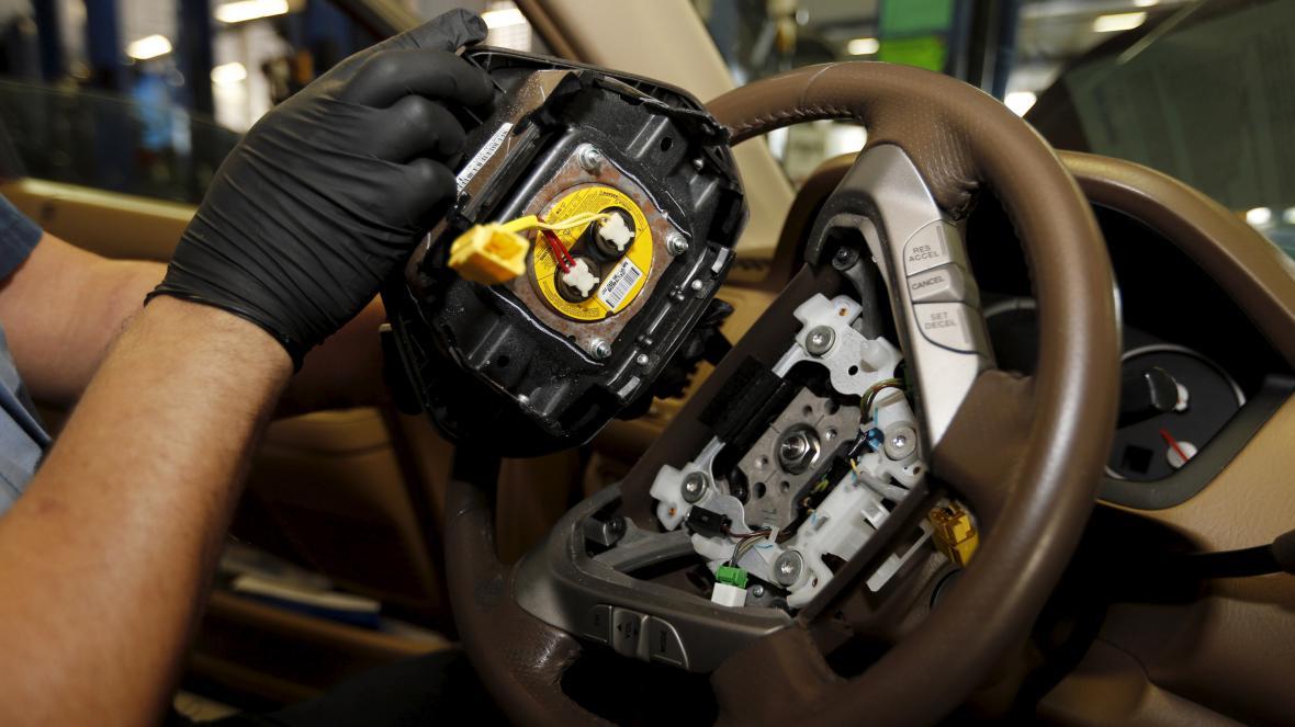 Nafukovač airbagu od firmy Takata