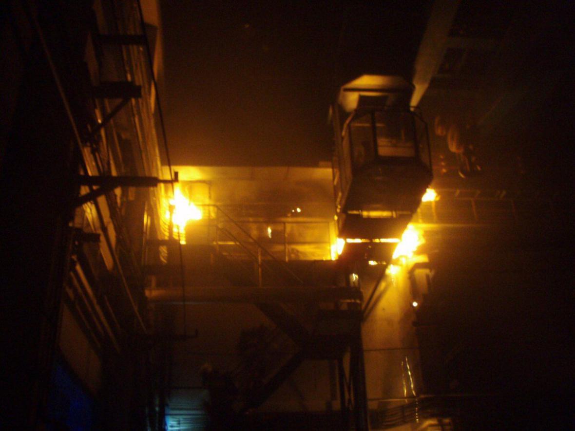 Požár na nádraží v Bohumíně