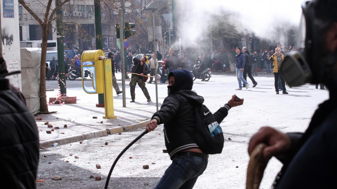 Protesty zemědělců v Řecku
