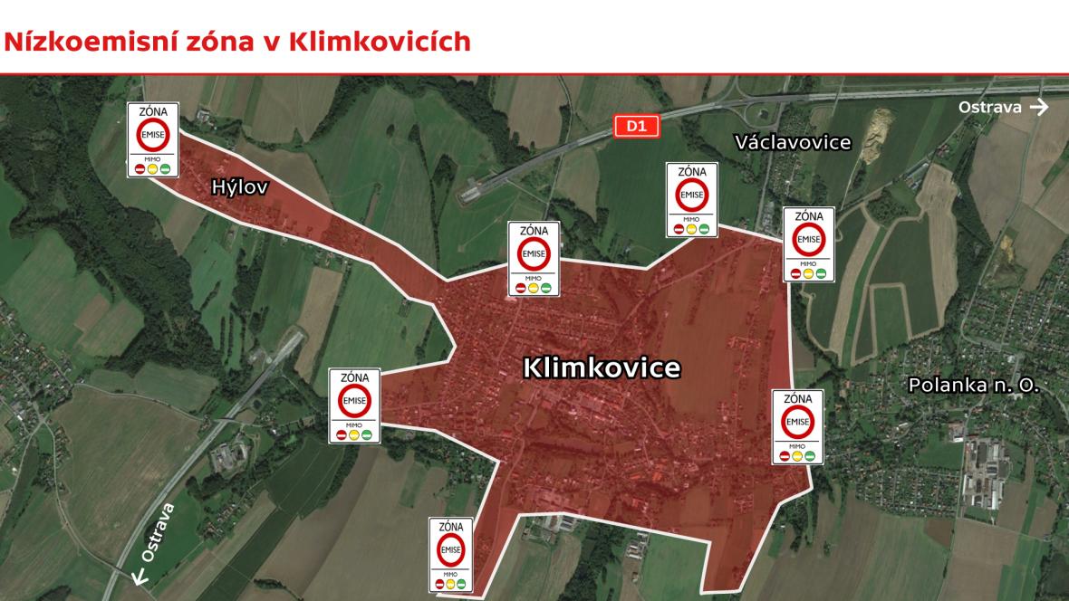 Nízkoemisní zóna v Klimkovicích
