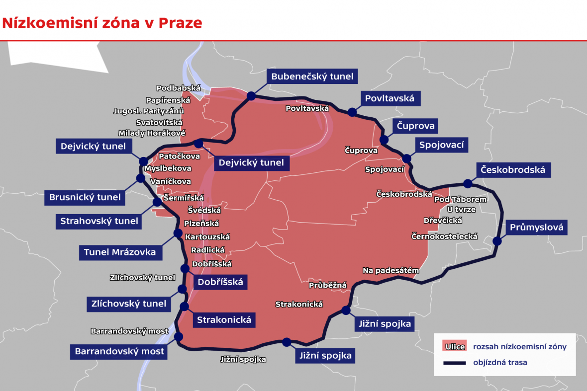 Nízkoemisní zóny v Praze