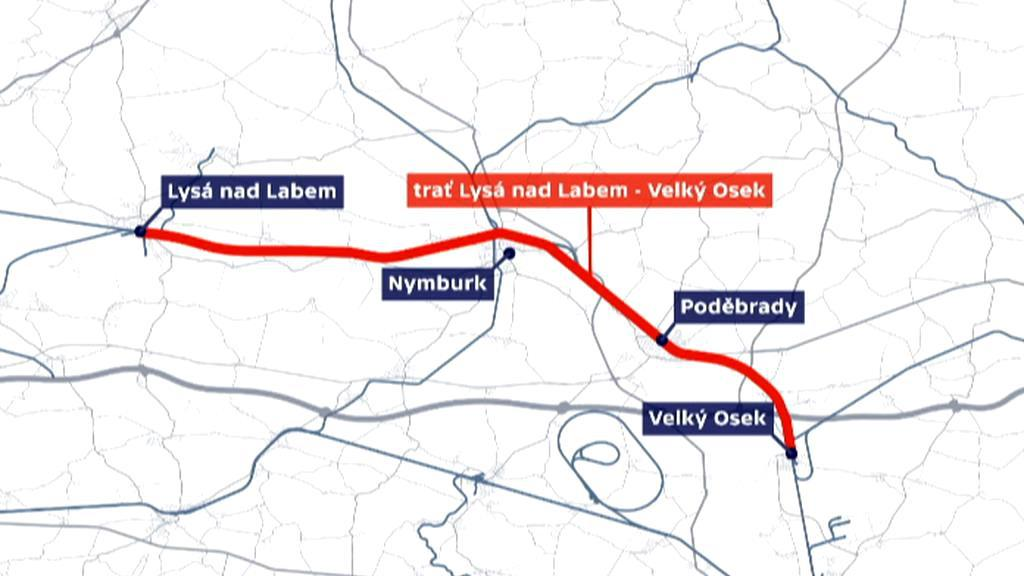 Trať z Lysé nad Labem do Velkého Oseku