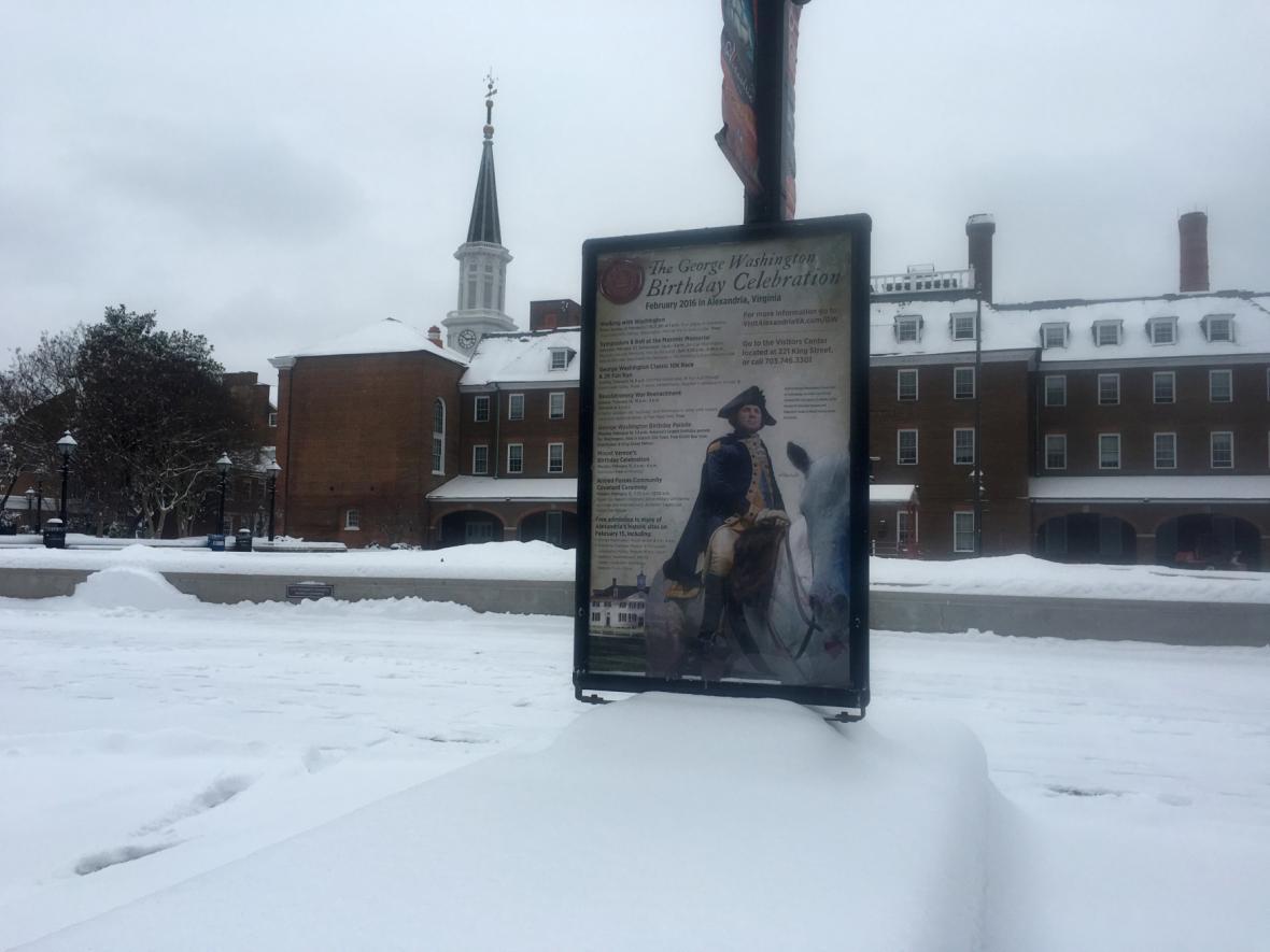 Washington zasypal sníh