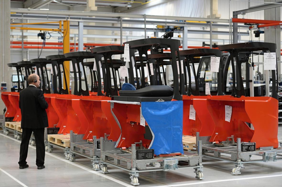 Montáž vozíků ve firmě KION Stříbro