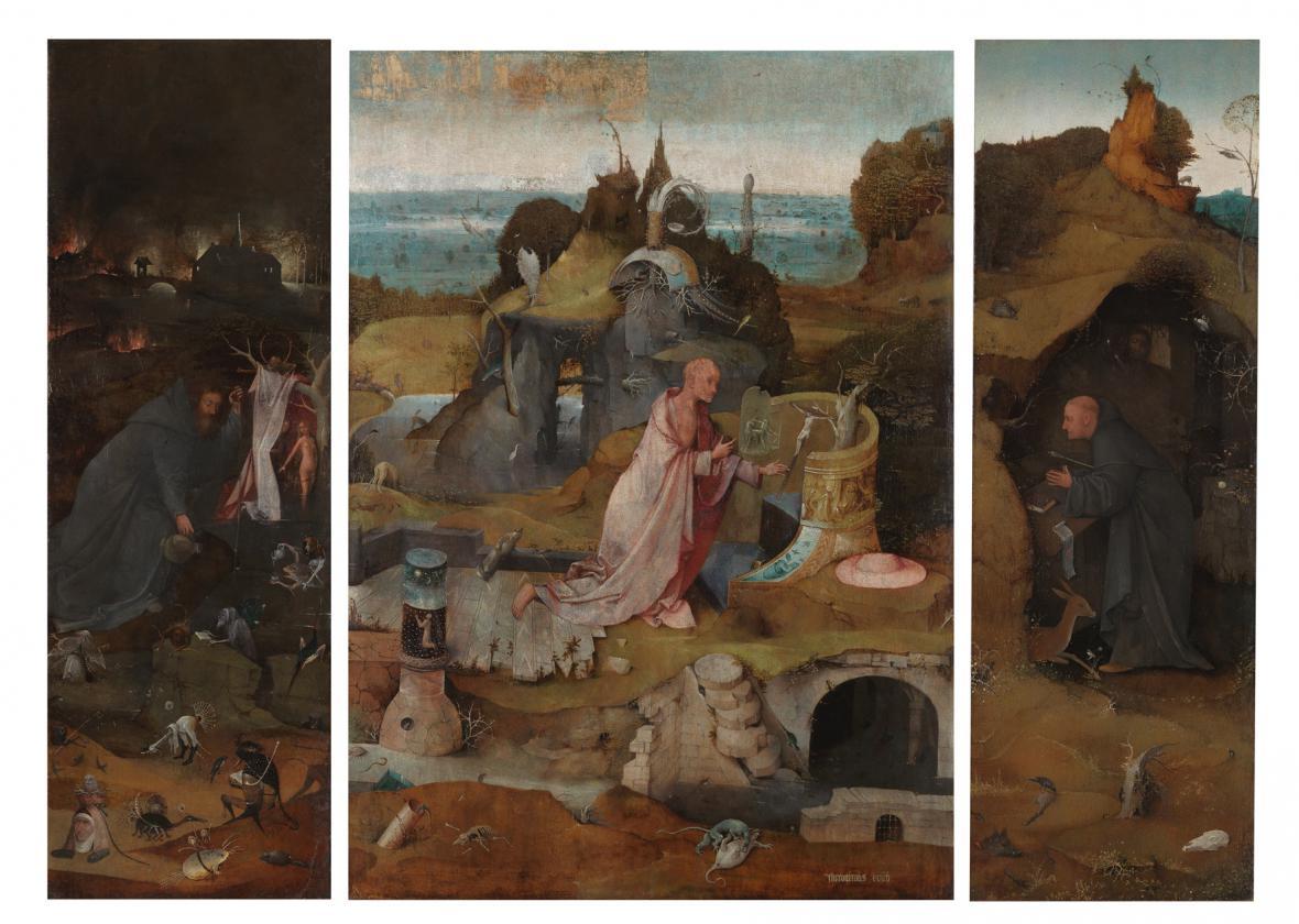 Triptych s poustevníky