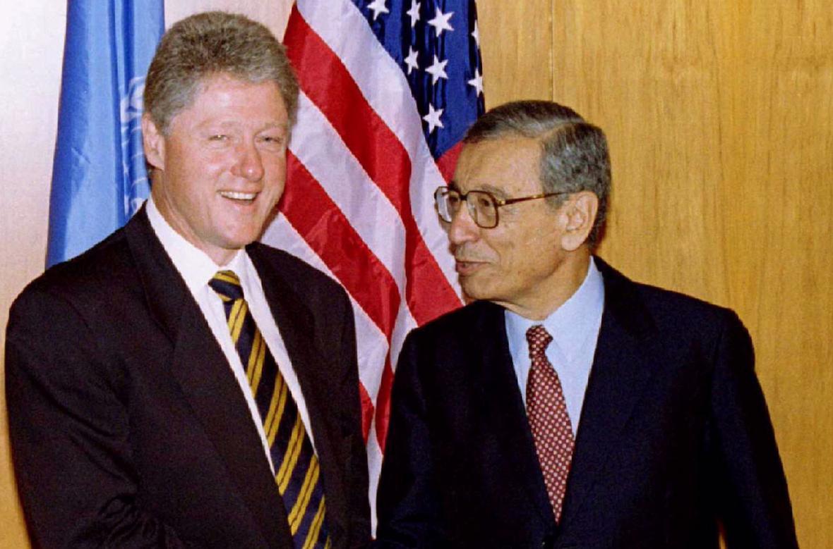 Bill Clinton a Butrus Butrus-Ghálí