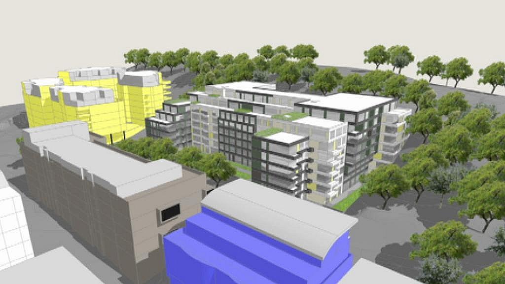 Vizualizace bytové stavby u Parukářky