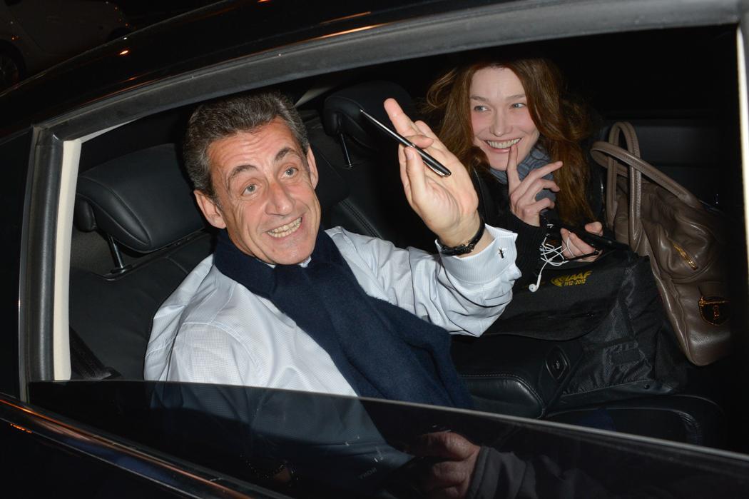 Bývalý prezident Nicolas Sarkozy s manželkou Carlou