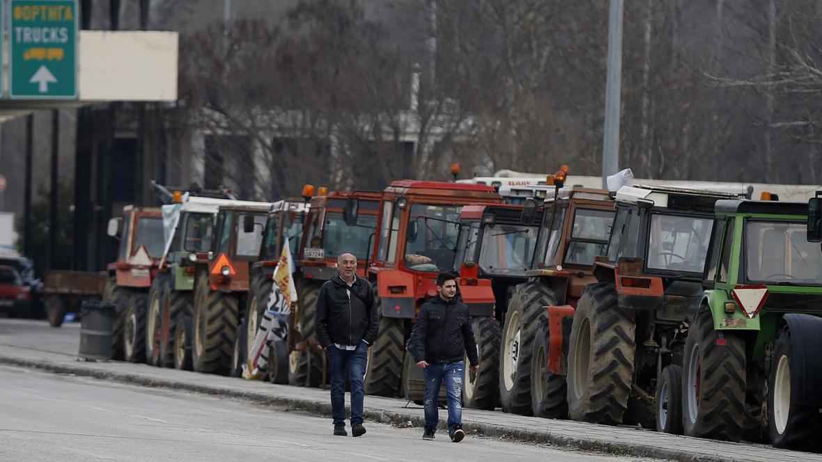 Blokáda řeckých zemědělců