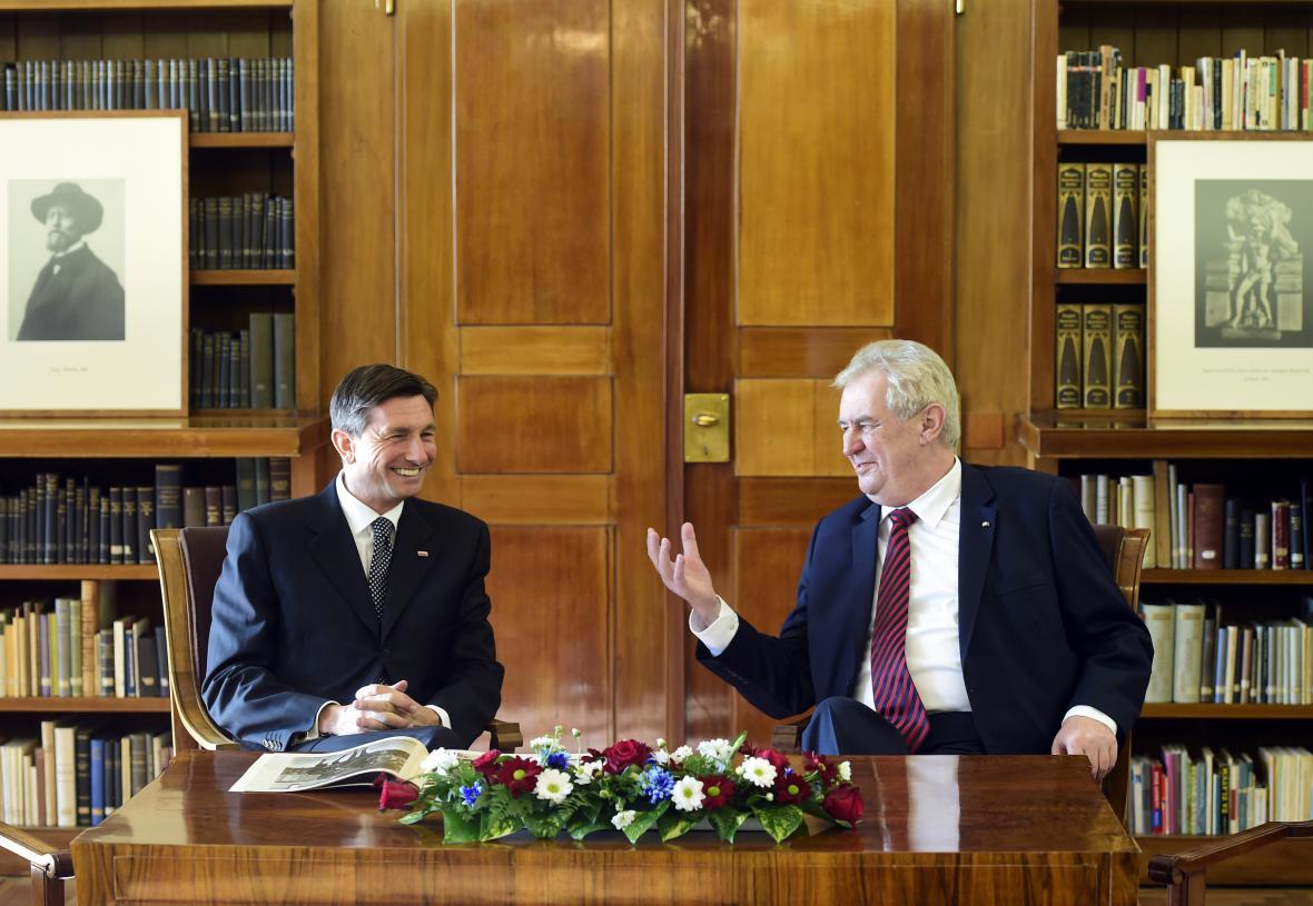 Borut Pahor a Miloš Zeman